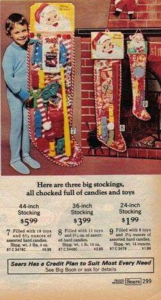 Santa Christmas Stocking!  ~ Sears Christmas Wish Book
