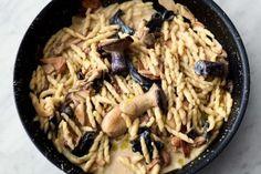Pasta met paddenstoelen en knoflook
