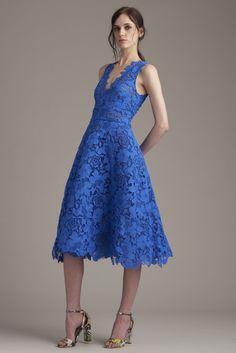Monique Lhuillier Resort 2016 Fashion Show Moda Fashion, Blue Fashion, Fashion Show, Womens Fashion, Pretty Dresses, Blue Dresses, Short Dresses, Monique Lhuillier, Beautiful Outfits
