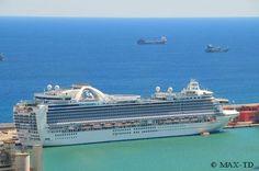 MS Ruby Princess in Barcelona Barcelona, Obi, Princess Cruises, Cruise Ships, Vacation Ideas, Travel, Viajes, Barcelona Spain