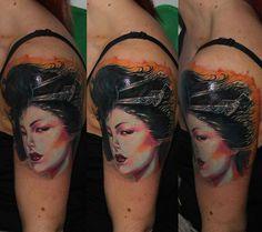 Geisha Cover up in progress