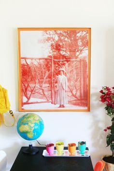 DIY - Monochromatic Photo Print | Little Green Notebook
