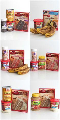 Baked Cake Donuts with a Glaze kuchen ostern rezepte torten cakes desserts recipes baking baking baking Cake Mix Desserts, Cake Mix Cookie Recipes, Cake Mix Cookies, Cookies Et Biscuits, Easy Desserts, Fudge Cookies, Cookie Ideas, Cake Mix Muffins, Cake Mix Banana Bread