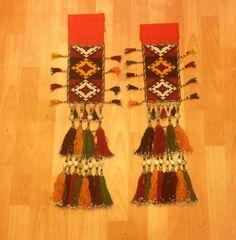 Old colored tassel ethnic tribal tassel Uzbek by akcaturkmen, $130.00