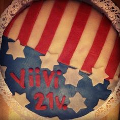 #USA #cake Cake Art, Usa, Art Cakes, Beautiful Cakes, America, U.s. States