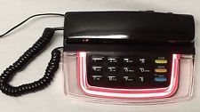 Vintage Radio Shack Krystalite Pink Neon Phone Model 43-809