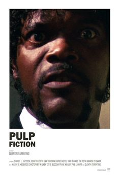 Pulp Fiction - Samuel L Jackson - Tallenge Quentin Tarantino Hollywood Movie Pos. - Pulp Fiction – Samuel L Jackson – Tallenge Quentin Tarantino Hollywood Movie Poster Collection - Iconic Movie Posters, Minimal Movie Posters, Movie Poster Art, Poster S, Iconic Movies, Poster Wall, Cinema Posters, Pulp Fiction Poster, Pulp Fiction Tattoo