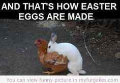 Wow & that's how Easter eggs were made