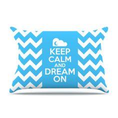 "Nick Atkinson ""Keep Calm"" Pillow Case | KESS InHouse Kess InHouse offers a huge selection of original artists work created on home items. Shower curtains, duvets, pillows, cutting boards, wall art, blankets. kessinhouse.com #kessinhouse"