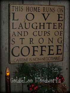 Primitive Folk Art Handmade  LoveLaughter & by GoldieLooWoodworks