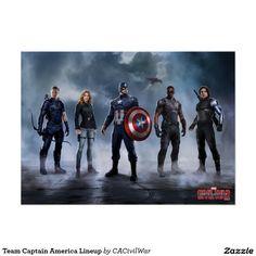Team Captain America Lineup Poster http://www.zazzle.com/marvel?rf=238498825812378580