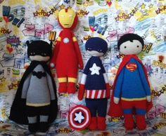super heroes mod made by Eleni H. / crochet pattern by lalylala