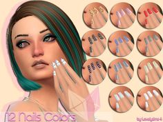 Sims 4 CC's - The Best: Nails by LovelySims