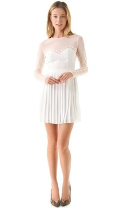 StyleStalker Cafe Flora Dress would be great with black tights and booties for winter