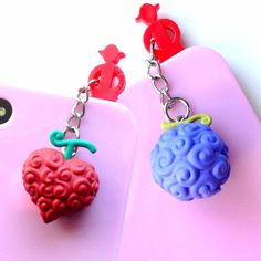 One Piece Devil Fruit Charms #onepiece #phone #keychain #dustplug #anime #merchandise