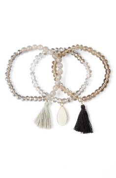 Panacea Panacea Set of 3 Stretch Bracelets available at #Nordstrom