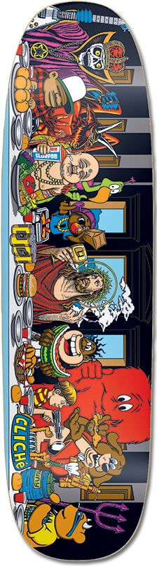 Cliche Last Supper Marc McKee Skateboard Deck Classic World Industries Old School Graphics Cool Rare International Shipping Welcomed Worldwide Orders Accepted Napping Negro best fast free ch Skateboard Deck Art, Skateboard Design, Old School Skateboards, Skate And Destroy, Skate Art, Skate Decks, Garage Art, Last Supper, Star Wars Poster