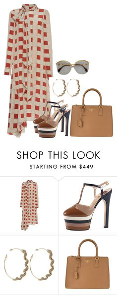 """""""Untitled #4558"""" by teastylef ❤ liked on Polyvore featuring Marni, Gucci, Roberto Cavalli and Prada"""