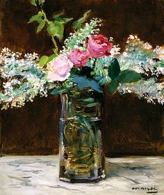 Vase of White Lilacs and Roses, Édouard Manet (French, From the collection of the Dallas Museum of Art and the Wendy and Emery Reves Collection. Edouard Manet, Rose Vase, National Gallery Of Art, Art Gallery, Paul Gauguin, Renoir, Flower Art, Life Flower, Art Museum
