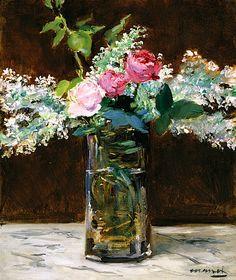 Vase de lilas blancs et roses, 1883 / Edouard Manet