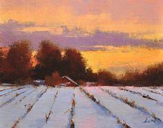 """Winter Fields 8""""x10"""""""