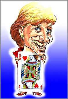 Caricature of Princess Diana @DianaInHeaven for #TwitterCelebCarix