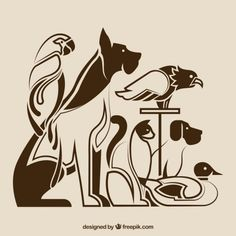 Big Animals, Animals Images, Cute Baby Animals, Animals And Pets, Logo Animal, Illustration Simple, Animal Line Drawings, Wolf Poster, Animal Templates