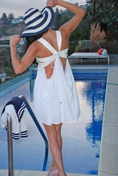 Cute pool party attire #sunhats #style #summer #accessories #ootd