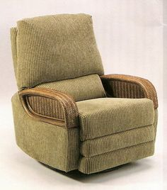 swivel rocker recliner! <= Like the wood in this chair, looks tropical to me. :)