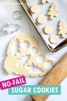 The BEST cookie decorating recipe ever! This cut-out sugar cookie recipe has just a few ingredients, never spreads, and is crazy delicious. Pair with perfect royal icing for easy, beautiful decorated cookies. VIDEO No Spread Sugar Cookie Recipe, Cut Out Cookie Recipe, Easy Sugar Cookies, Cut Out Cookies, Sugar Cookies Recipe, Yummy Cookies, Icing Recipe, Delicious Cookie Recipes, Best Cookie Recipes
