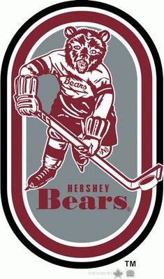 Hockey Logos, Hockey Players, Sports Logos, Hershey Bears, Ursa Major, Sports Uniforms, Bear Logo, Virtual Museum, World Of Sports