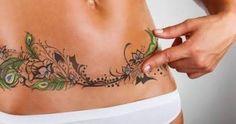 tummy tuck scar cover tattoo - Google Search                                                                                                                                                      More