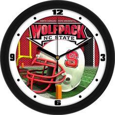 NCSU NC State Wolfpack Helmet Wall Clock