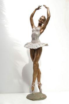 Bronze Sculptures of females by artist Vittorio Tessaro titled: 'Classic Ballerina (Pirouetting Little female Ballet Dancer statuette)'