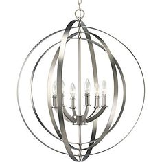 Inspired by an ancient armillary sphere, Equinox features concentric, pivoting rings to create an infinite variety of positions. Designed to be used singly or in series over a dining table, kitchen island or as a wall bracket when installed on the P8762 accessory arm (sold separately).
