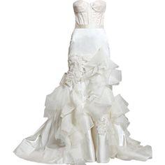 My dream dress. Reem Acra Spring 2011 (http://thefashionexaminer.blogspot.com/2010/04/reem-acras-spring-2011-bridal.html)