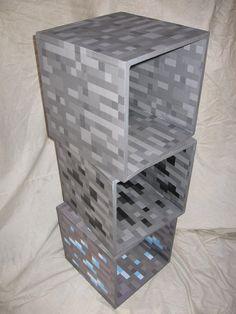 MineShelves - Minecraft World Minecraft Party, Minecraft Room Decor, Cool Minecraft Houses, Minecraft Crafts, Minecraft Furniture, Minecraft Buildings, Creeper Minecraft, Minecraft Cake, Boys Minecraft Bedroom