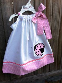 pink ladybug pillowcase dress!
