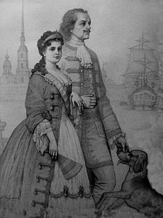 Peter the Great and Catherine I of Russia