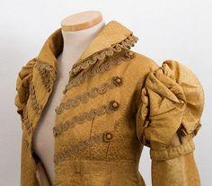 Gorgeous Regency silk damask pelisse, c.1815-20