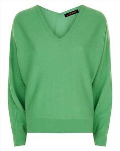 Jaeger cashmere V neck sweater