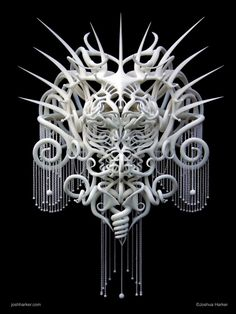 Joshua Harker's Unbelievable 3D Printed Sculptures Influenced By Symmetry And Nature