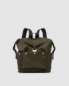 ZARA - MUJER - MOCHILA TEJIDO Online Zara, Latest Bags, Zara Bags, Day Bag, Zara United States, Zara Women, Backpacks, Handbags, My Style