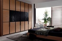 Armario en negro y madera Divider, Room, Furniture, Home Decor, Black Wardrobe, Perfect Wardrobe, Closets, House Decorations, Wood