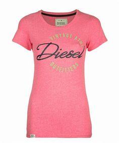 Tina Love Tee (Azelea Speckle) Summer Collection, Diesel, Spring Summer, Tees, Women, Fashion, Diesel Fuel, Moda, T Shirts