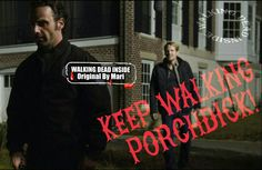 The Walking Dead, Memes, Rick Grimes, Andrew Lincoln, Porchdick