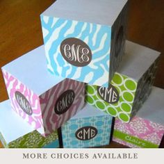Personalized Note Cubes