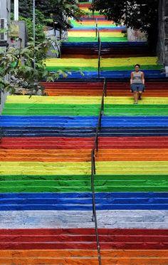 Escadas arco iris