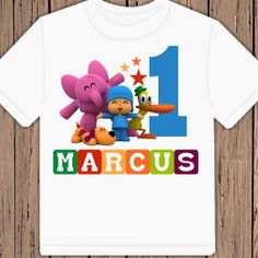 Pocoyo Birthday personalized tshirt shirt by maryahdesigns on Etsy, $13.00
