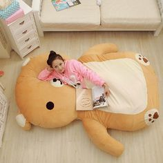 Cats Toys Ideas - Oversized Huge Giant Stuffed Animals Bear Toys Plush Doll Soft Cartoon Tatami Big Large Mattress Dropshipping - Ideal toys for small cats Baby Set, Bear Toy, Teddy Bear, Giant Stuffed Animals, Stuffed Bear, Kawaii Stuffed Animals, Kawaii Room, Cute Pillows, Rilakkuma